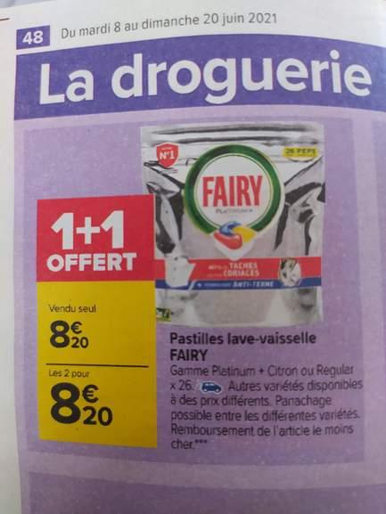 Lot de 2 Paquets de 26 capsules pour lave-vaisselle Fairy Platinum+ Tout-en-1