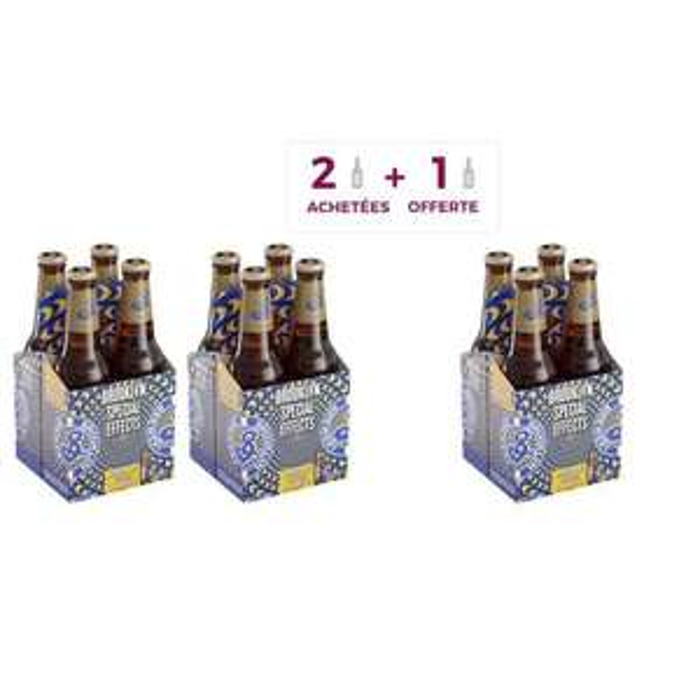 3 Packs de 4 Bières sans alcool Brooklyn Special Effects Hoppy Lager (12 x 33 cl)