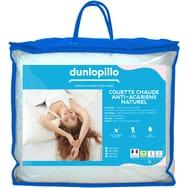 Couette synthétique chaude en polyester Dunlopillo Proneem - traitement anti-acariens, 450 g/m², 200x200 cm