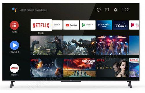 """TV 50"""" TCL 50C725 (2021) - QLED, 4K UHD, HDR Pro, Dolby Vision, Android TV (Via ODR de 30€ et remise au panier)"""