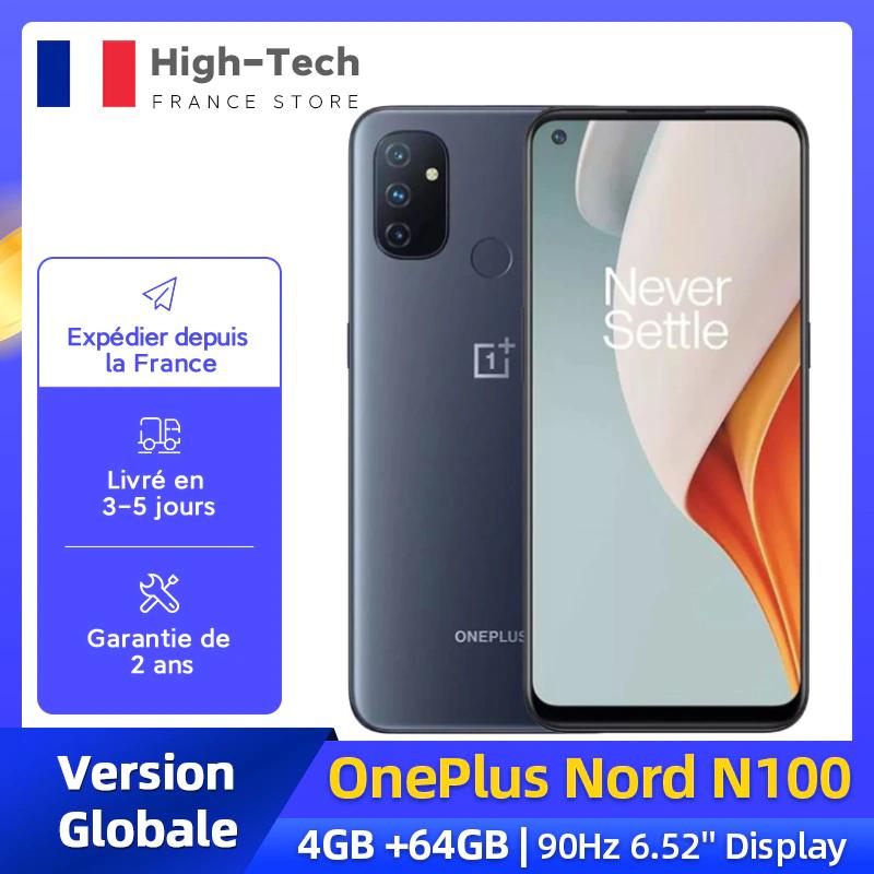"""Smartphone 6.52"""" OnePlus Nord N100 BE2011 - 4 Go de Ram, 64 Go"""