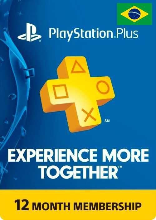 Abonnement de 12 mois au PlayStation Plus (Dématérialisé - Compte Brésil)