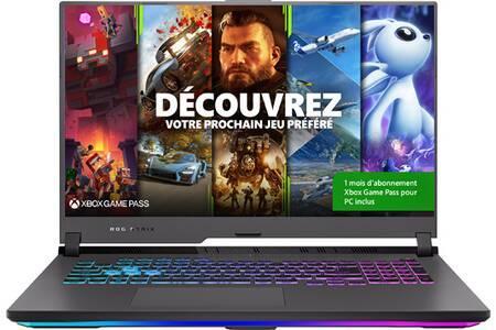 "PC Portable 17.3"" Asus Strix G17 G713QR-HX047T - Full HD 144 Hz, Ryzen 7-5800H, RAM 16 Go DDR4, 512 Go SSD, RTX 3070 8 Go 130w, Windows 10"
