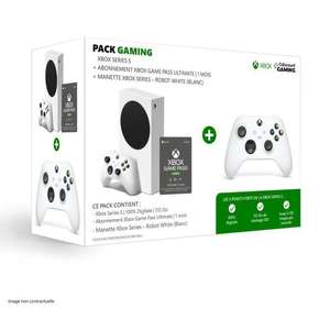 [CDAV] Console Microsoft Xbox Series S + 2ème Manette + Game Pass Ultimate 1 mois
