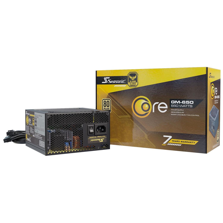 Alimentation PC Semi-Modulaire Seasonic Core GM-650 - 650W, 80+ Gold, ATX