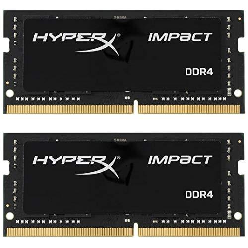 Mémoire RAM HyperX Impact SODIMM - 16Go (2x8Go), 3200 MHz, CL20 pour PC Portable