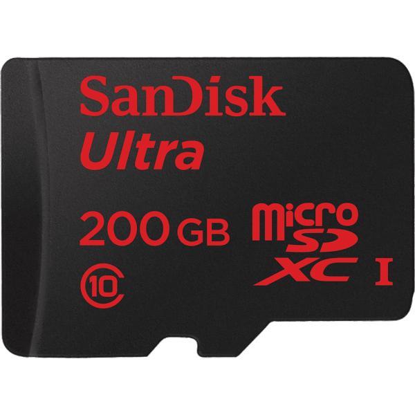 Carte microSDXC SanDisk Ultra Classe 10 (jusqu'à 90 Mo/s) - 200 Go