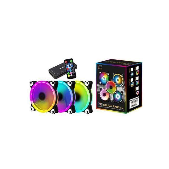 Pack de 3 Ventilateur pour Boîtier Xigmatek Galaxy II Elite AY120 ARGB - 120mm, RGB