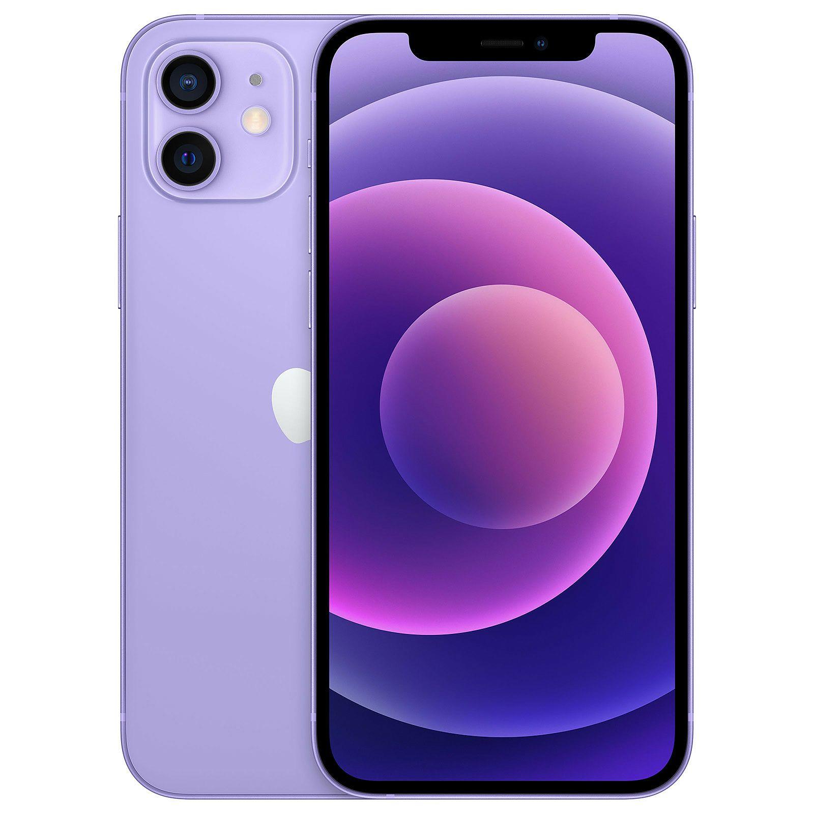 "Smartphone 6.1"" Apple iPhone 12 - 64 Go, 5G, Violet (Frontaliers Suisse)"