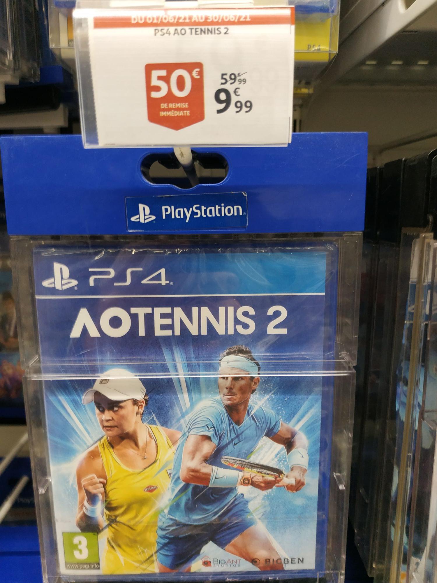 Jeu Ao Tennis 2 sur PS4 - Auchan Noyelles godault (62)