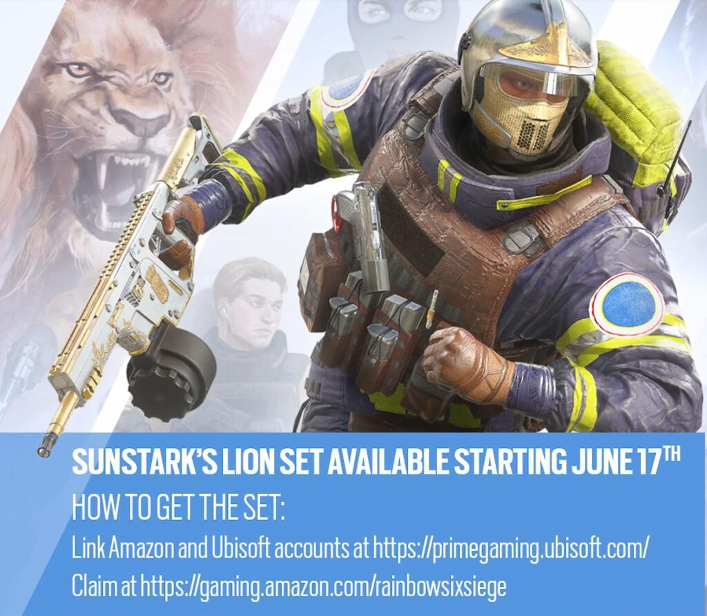 [Twitch / Amazon Prime] Pack d'agent Lion gratuit sur Rainbow Six Siege sur Consoles et PC (Dématérialisé)