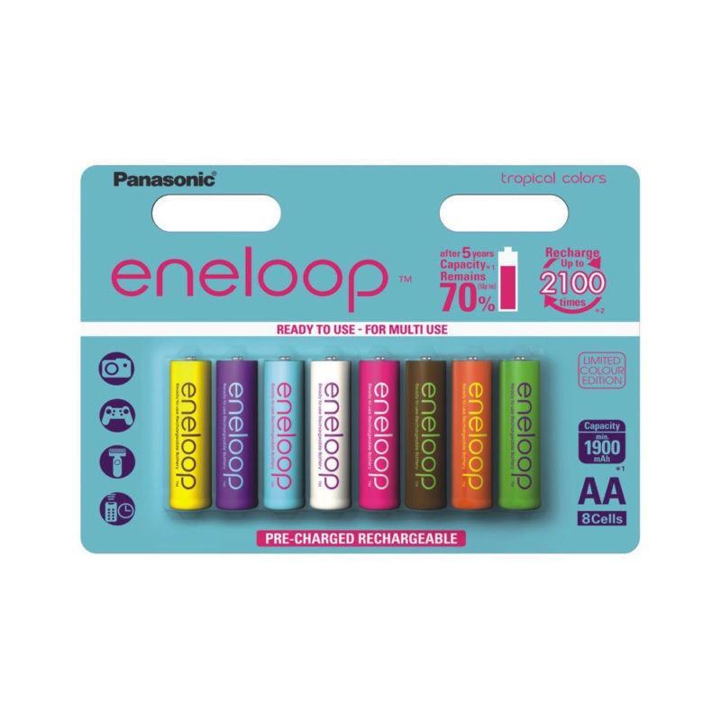 Pack de 8 piles rechargeables Panasonic Eneloop (AA)
