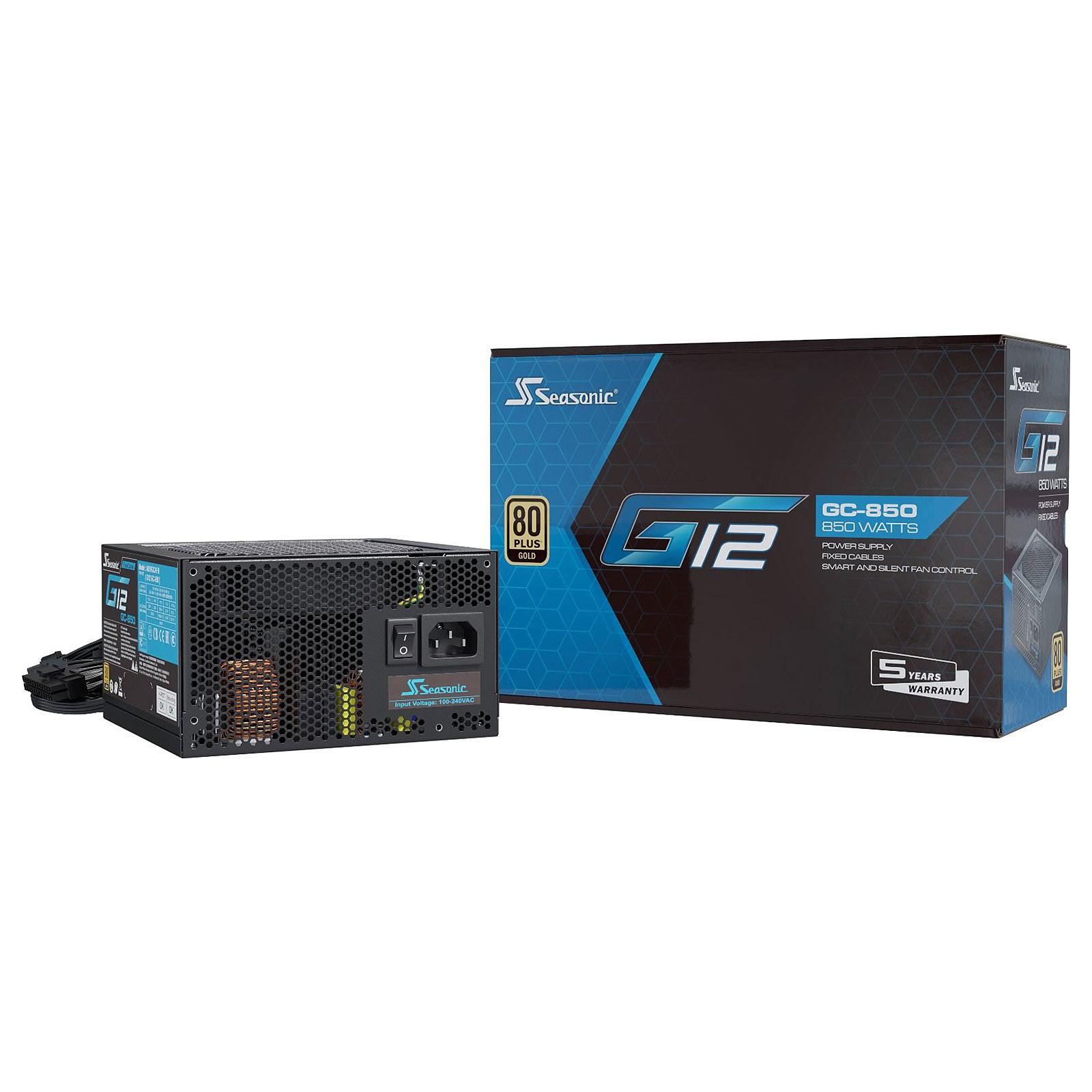 Alimentation PC non-modulaire Seasonic G12 GC - 850W, 80+ Gold, ATX