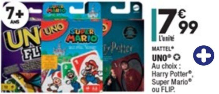 Jeu de carte UNO (Super Mario Harry Potter ou Flip)