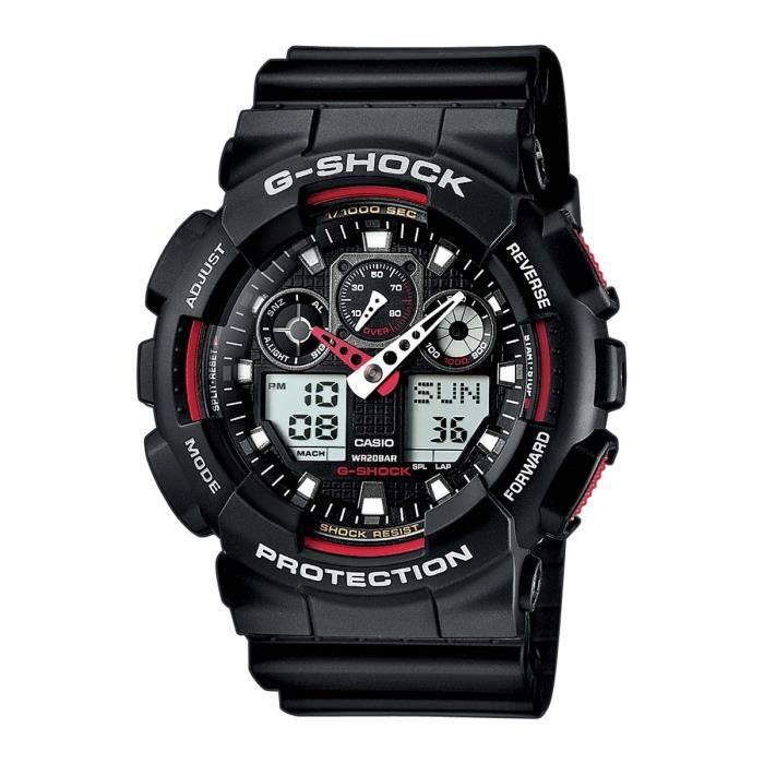 Montre Homme Quartz Casio G-shock GA-100-1A4ER (Bleue ou noire)