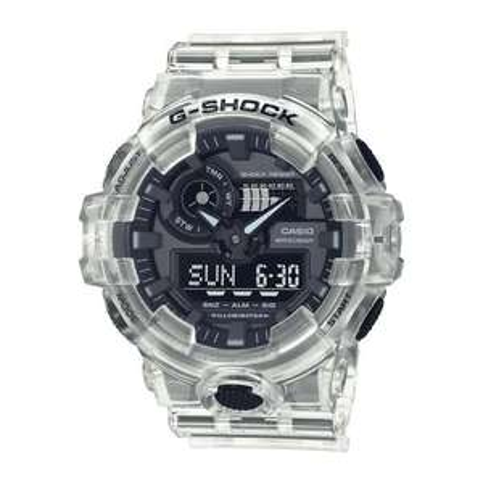 Montre quartz Casio G-Shock Skeleton GA-700SKE-7AER - Blanche transparente