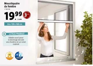 Moustiquaire de fenêtre - 130 x 160 cm