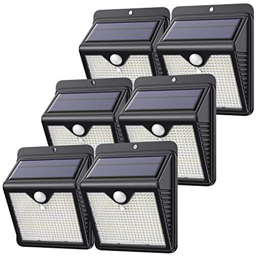 Pack de 6 Lampes solaires extérieures Feob - 150 LED, Détecteur de Mouvement (Via coupon - Vendeur tiers)