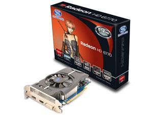 Carte graphique Sapphire HD6770 512M GDDR5 PCI-E HDMI / DVI-I / DP LITE bulk (39,90€ via Buyster)