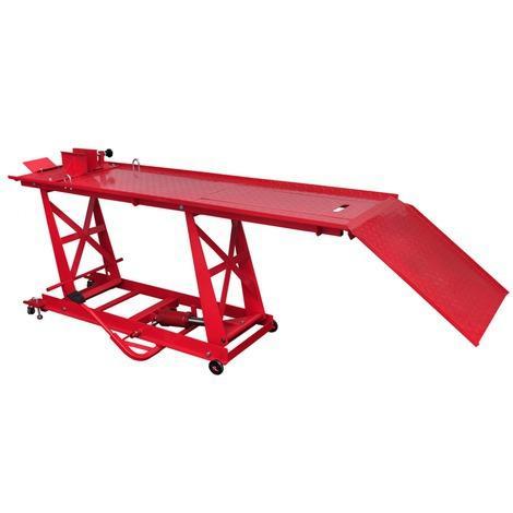 Pont élévateur hydraulique pour deux-roues vidaXL (max. 450 kg)