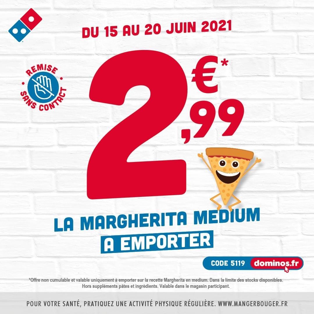 Pizza Margherita Medium à emporter - Nice (06)
