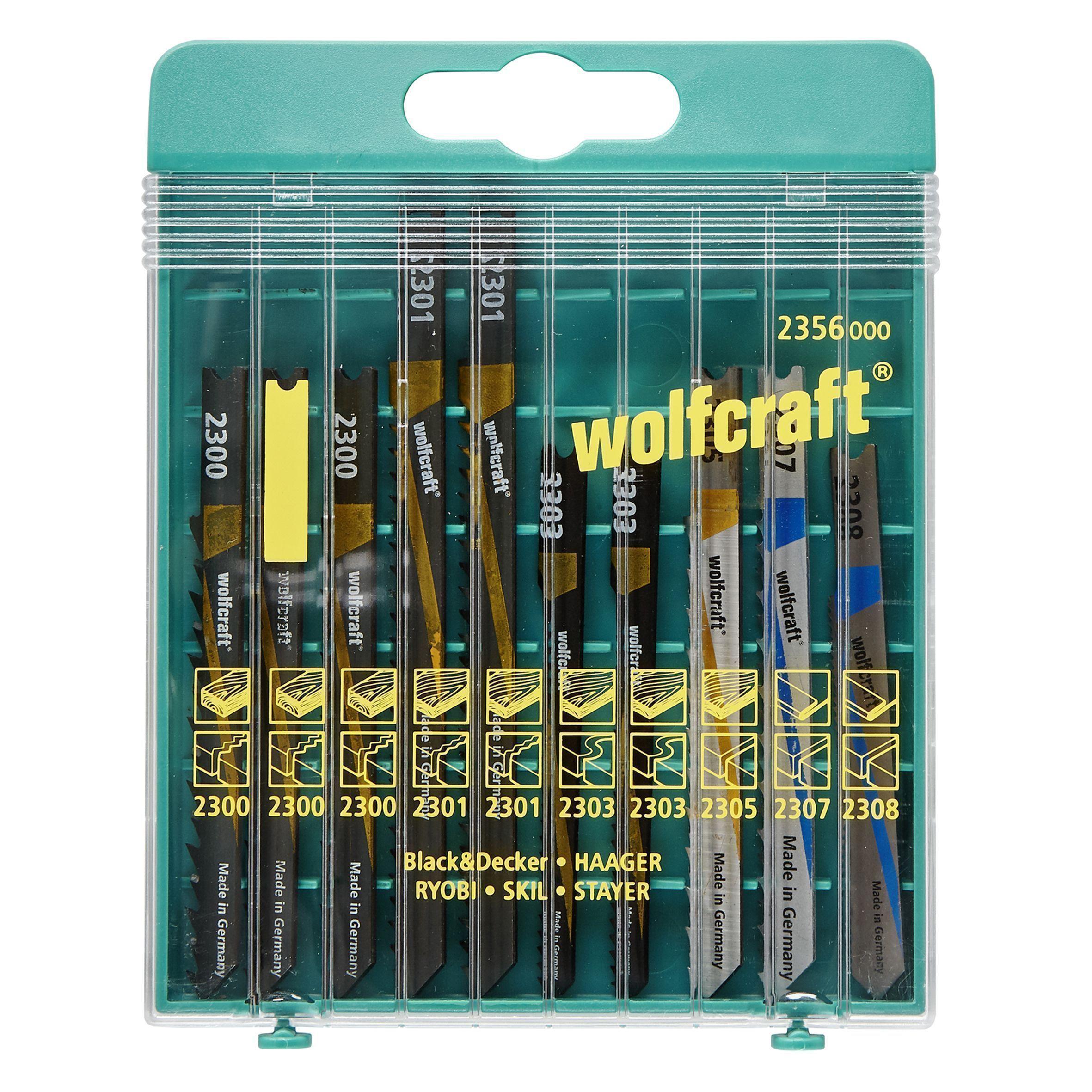 Coffret de 10 lames pour scies sauteuses Wolfcraft - (Via 3€ sur la carte de fidélité)