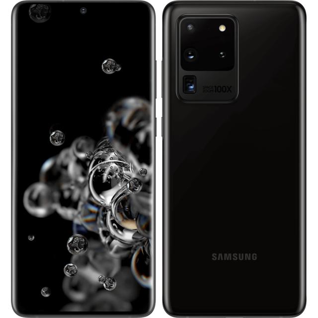 "Smartphone 6.9"" Samsung Galaxy S20 Ultra 5G - 128 Go, Noir"
