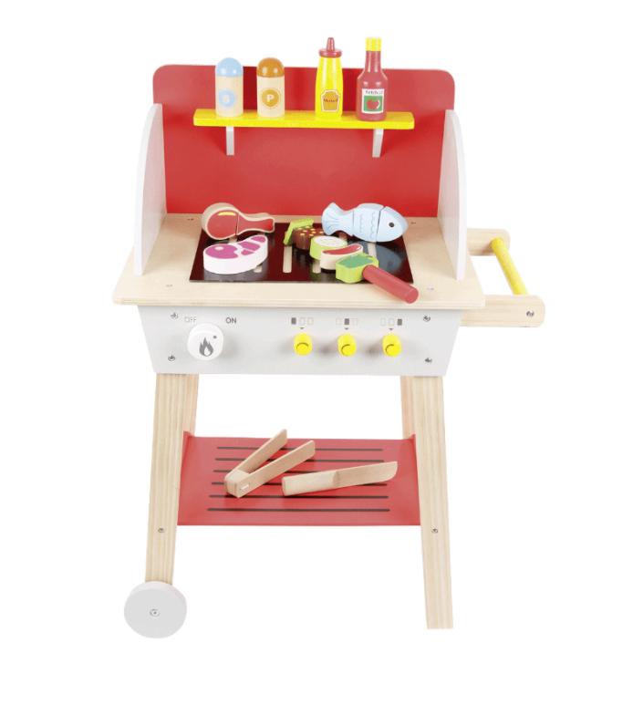 Barbecue en bois avec ses accessoires pour Enfant