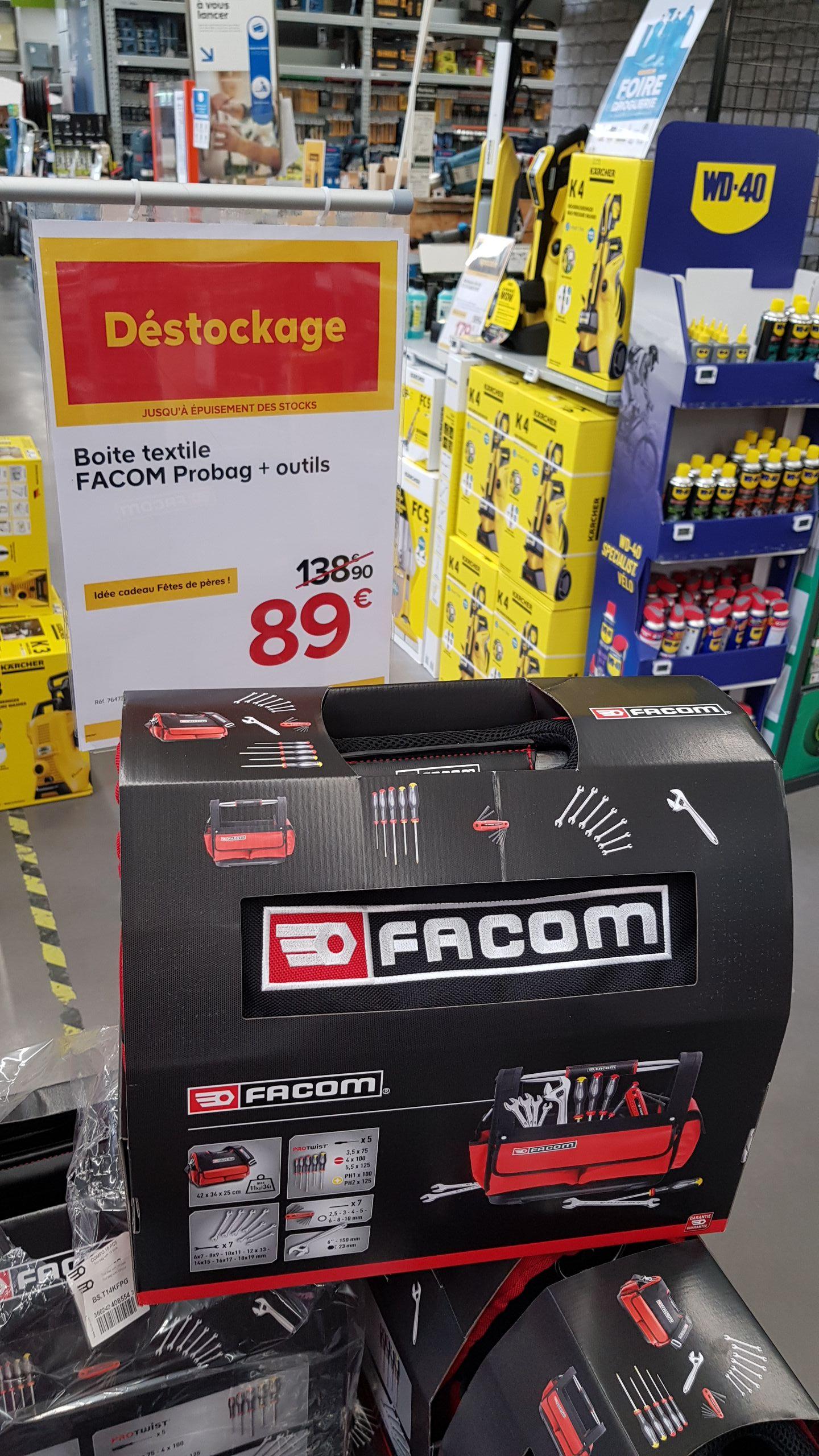 Caisse à outils Facom Probag + 18 outils + glaciaire offerte (via ODR) - Perpignan (66)