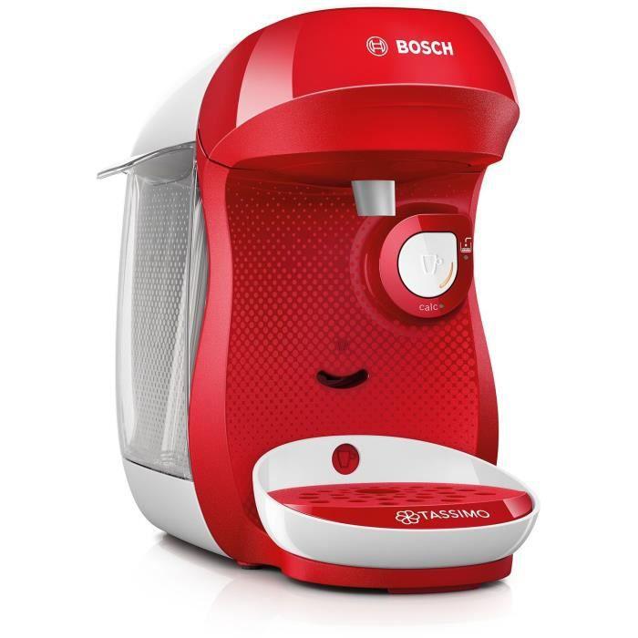 Cafetière à capsules Bosch Tassimo Happy TAS1006 - rouge