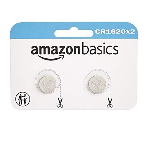 Lot de 2 piles-bouton Amazon Basics CR1620 Lithium-Ion