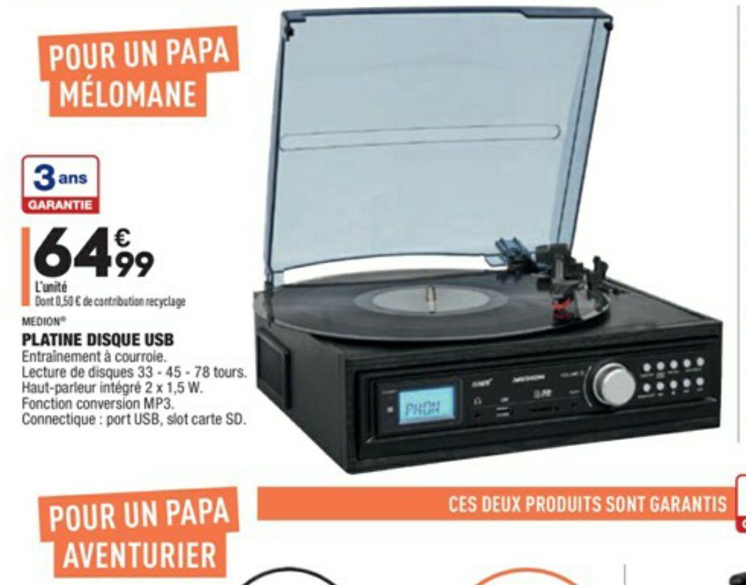 Platine disque Vinyl USB Medion