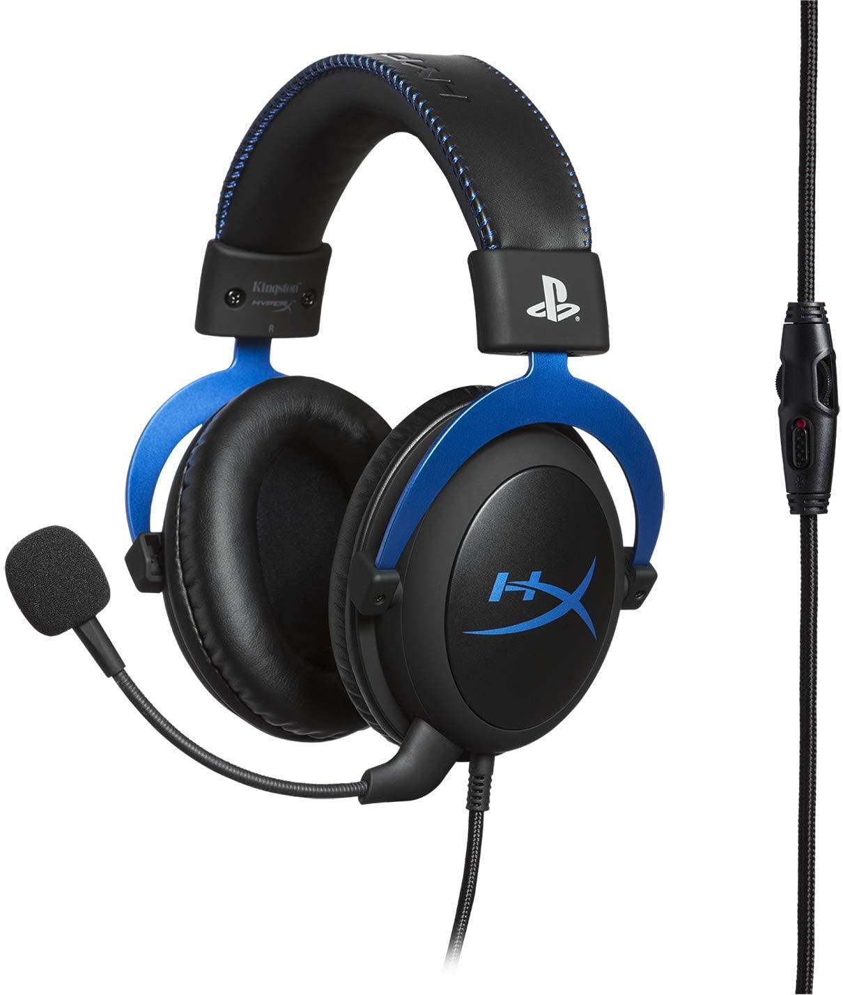 Casque-Micro filaire Gaming HyperX Cloud pour PS4 / PS5 / PC - Noir/Bleu (via 40€ sur la carte)
