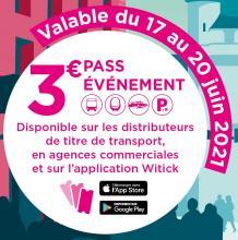 Ticket de bus Pass 24h (Bus / Tram / Bat3) - Bordeaux (33)