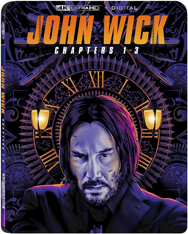 Films Blu-ray 4K John Wick Chapitres 1-3 (Via Coupon - Frais d'importation compris)