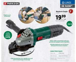 Meuleuse d'angle ParkSide Spindle Lock - 750 W