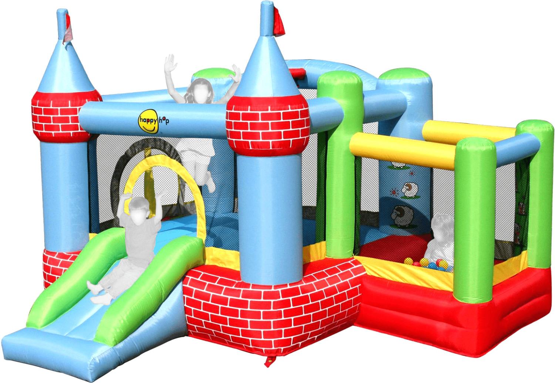 Sélection d'aires de jeux gonflables en promotion - Ex : HappyHop Château gonflable (9112) - avec toboggan (via 257.99€ en fidélité)