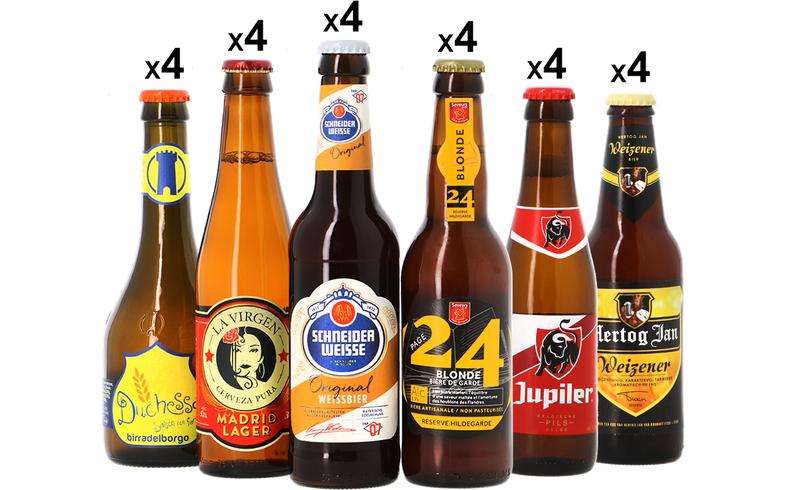 10% de réduction sur une sélection de produits européens - Ex : pack de 24 bouteilles de bière Mega Pack Europe (4x6 bières différentes)
