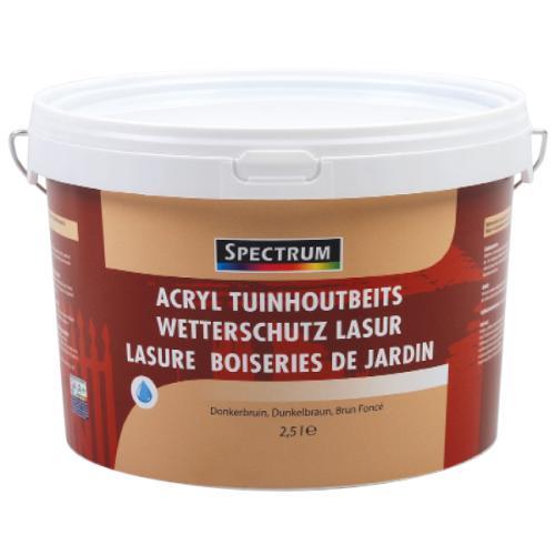 Pot de lasure bois de jardin Spectrum - 2.5 L