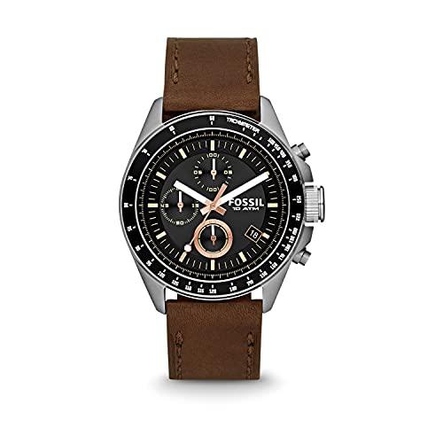 Montre avec bracelet en cuir Chronographe Quartz Homme Fossil CH2885
