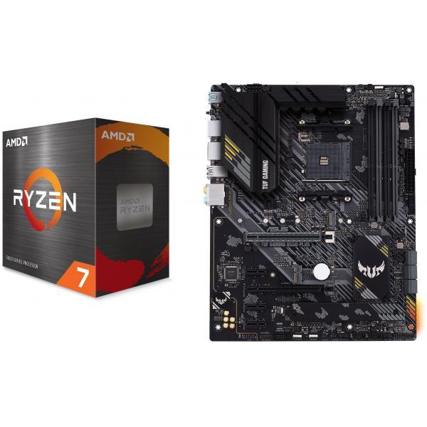 Kit d'evo PC - processeur Ryzen 7 5800X (3.8 GHz, Mode Turbo à 4.7 GHz) + carte-mère Asus TUF B550-Plus (via ODR de 40€)