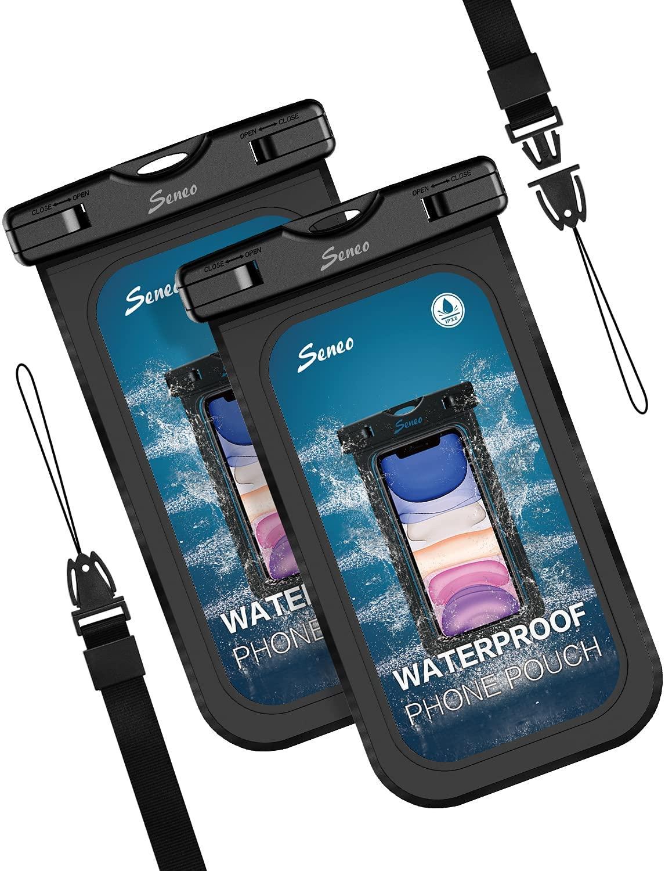 """Lot de 2 Pochettes étanches Seneo pour Smartphone (Jusqu'à 6.9"""") - Certification IPX8 (Vendeur tiers)"""