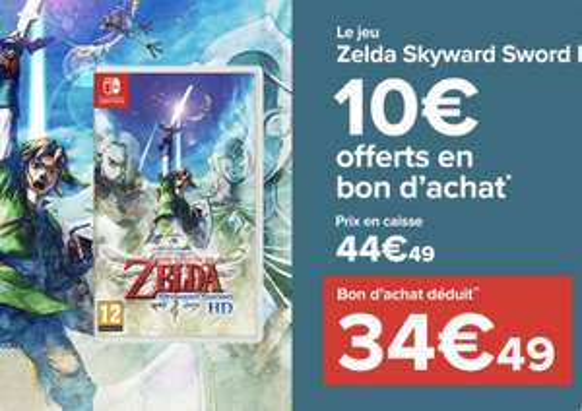 [Précommande] Jeu The Legend of Zelda : Skyward Sword HD sur Nintendo Switch (+10€ en bon d'achat)