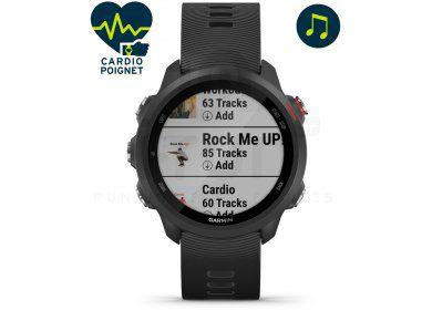 Monte connectée GPS Garmin Forerunner 245 Music - Noire