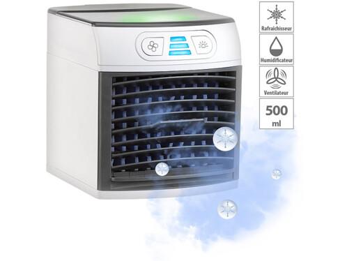 Rafraîchisseur d'air et humidificateur avec lumière d'ambiance LW-110