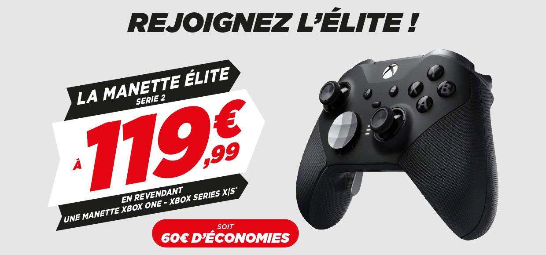 Manette Xbox Elite Serie 2 à 119,99€ sous reprise d'un produit éligible (parmi une sélection)