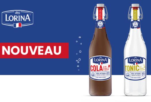 Bouteille de Lorina Cola ou Tonic 75cl remboursée en 3 Bons d'achat de 1€ (Via formulaire)