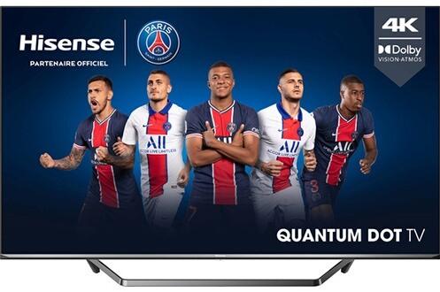 """TV QLED 55"""" Hisense 55U7QF - 4K UHD, HDR10+, Dolby Vision, Smart TV + 60€ offerts en carte cadeau (via ODR 150€)"""