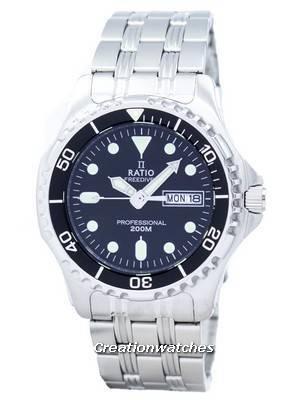Montre à quartz Ratio Free Diver Professional36JL140 - Verre saphir, 20 ATM (Frais de port et d'importation inclus)