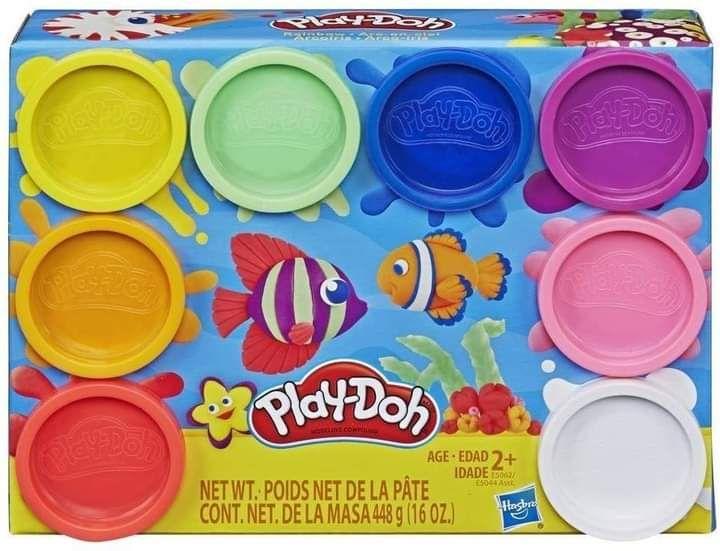 8 pots de pâte à modeler Play-Doh couleur arc en ciel